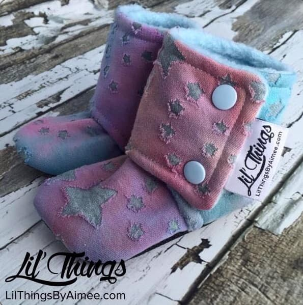 Lil' things by Aimee, contest winner, baby booties