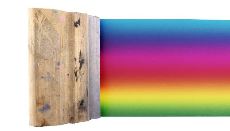 Colored silk screen