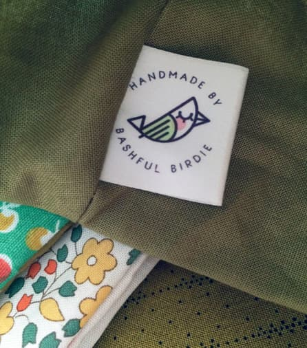 Bashful Birdie, Printed Label, Logo Label, Retro, Handmade, Etsy