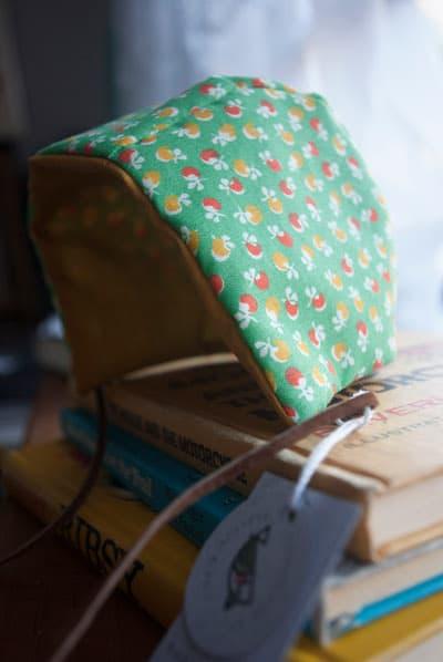 Bashful Birdie, Retro Baby Bonnet, Handmade, Etsy