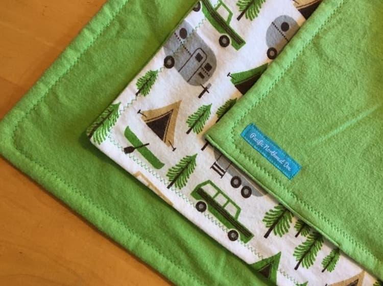 Fleece baby blanket, handmade, etsy