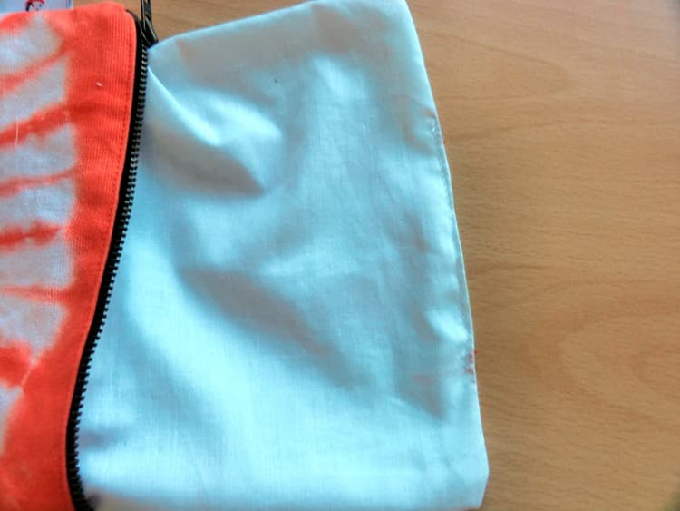 zipper pouch, tie dye, tutorial, handmade