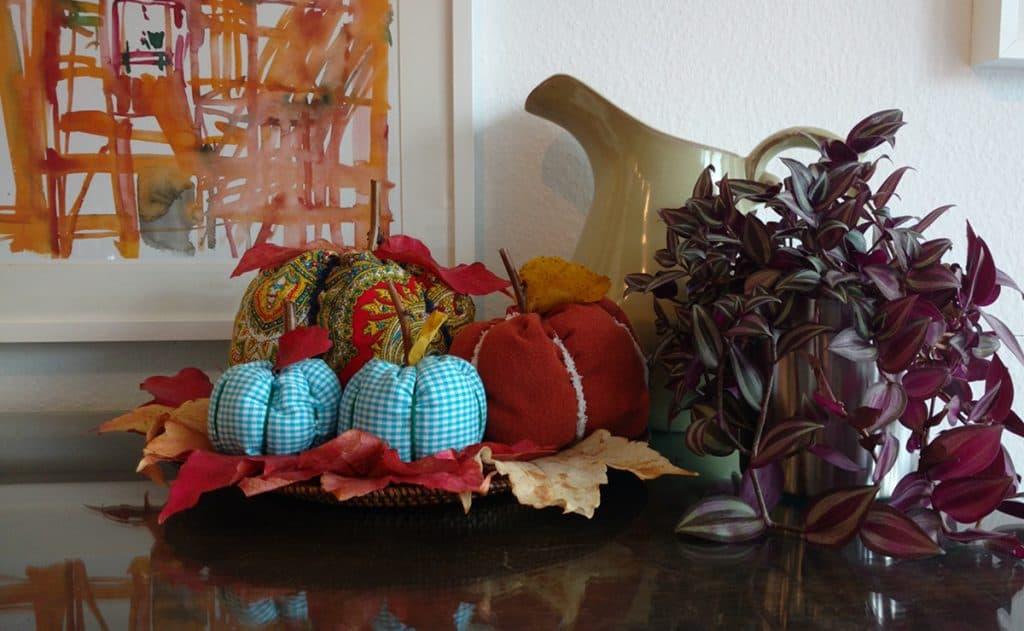 Fall decor, fabric pumpkins, rustic pumpkins