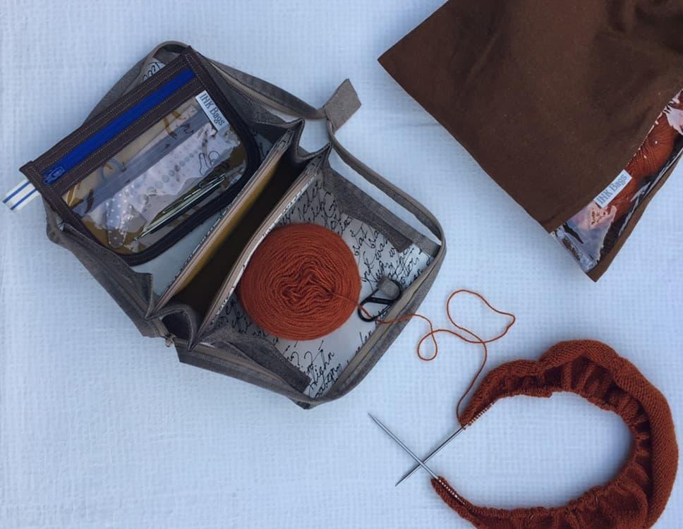 Ink Bags, knitting, notions, yarn storage
