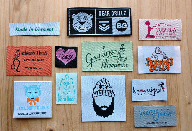 woven labels, printed labels, clothing labels