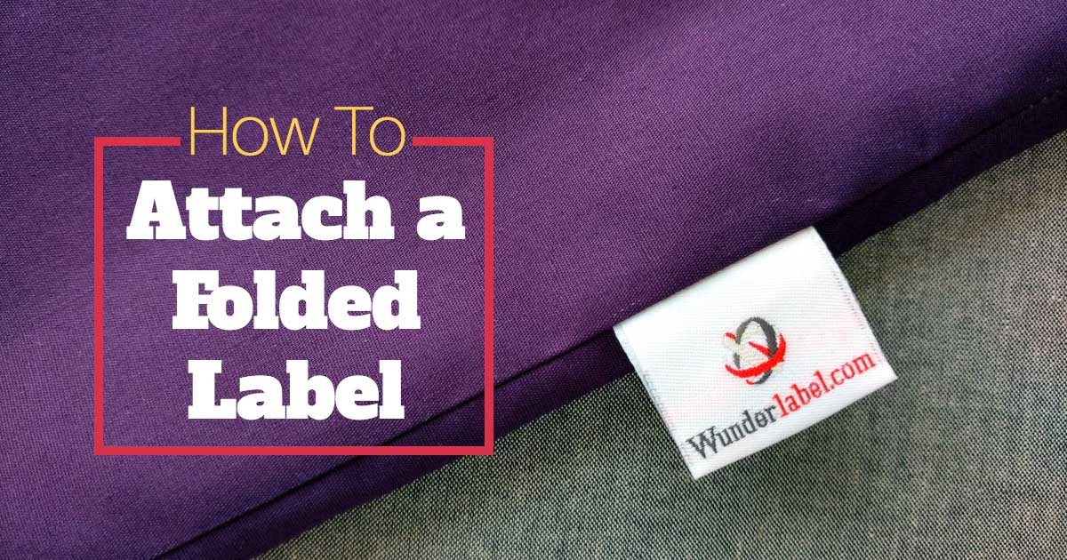 How to Attach a Folded Label