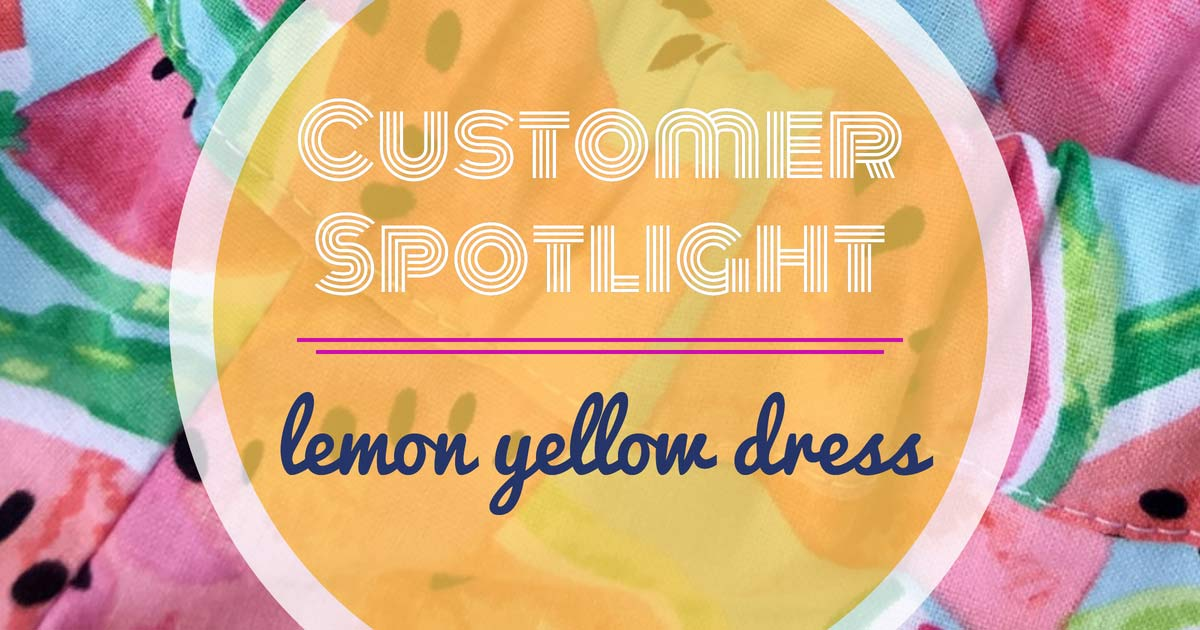 Customer Spotlight: lemon yellow dress