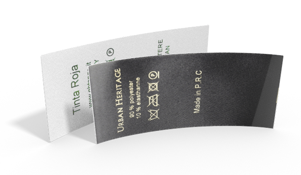 Printed Combination Laundry Labels