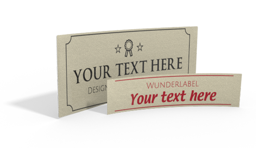 Printed Cotton Labels with Text & Symbol