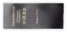 Printed Satin Textile Composition & Care Labels