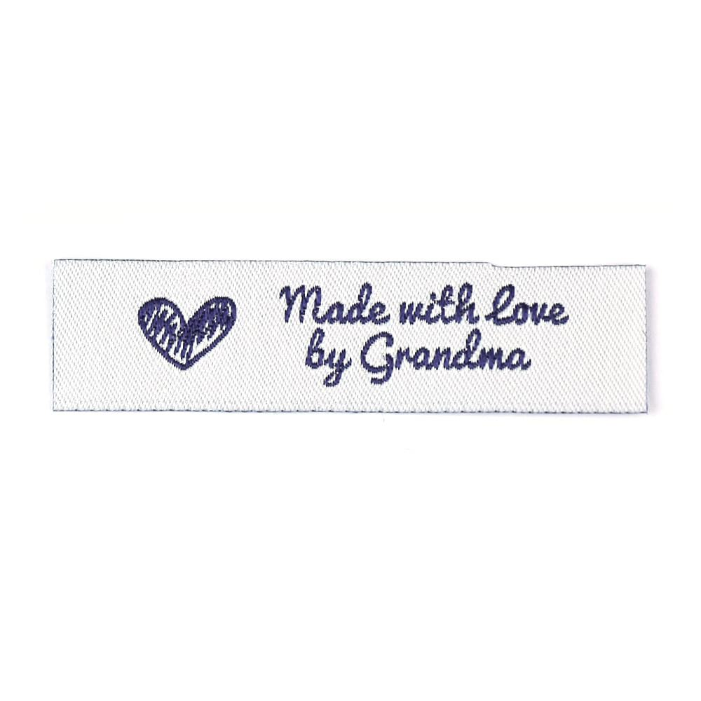 Woven Labels - Made with love by Grandma - Standard